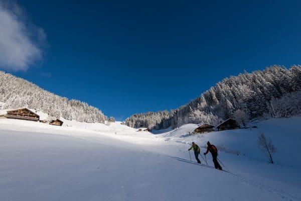 Rando à ski, en boucle autour des Enclaves