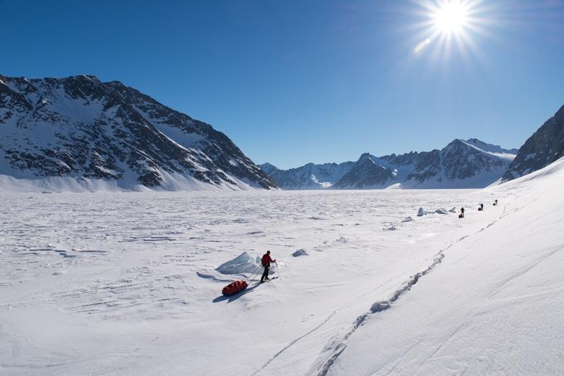 ski de randonnée Groenland pulka
