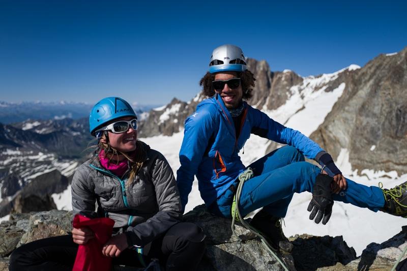 Alpinisme tré la tête