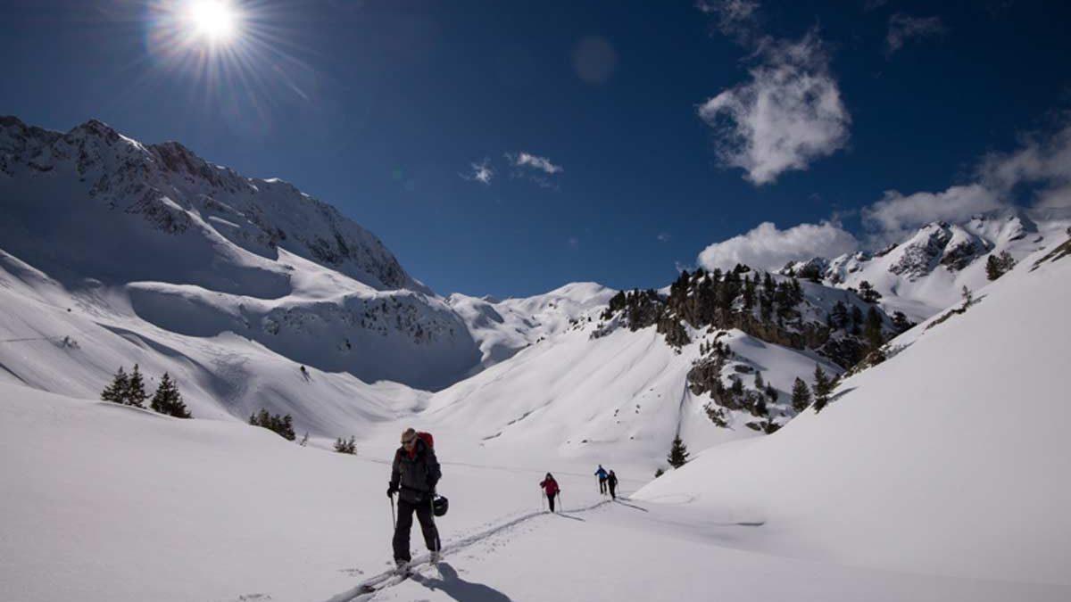 Back to my office : initiation au ski de rando avec un guide