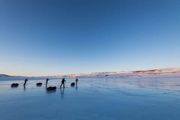 Expédition à ski au Groenland #3 – Vive les pulkas