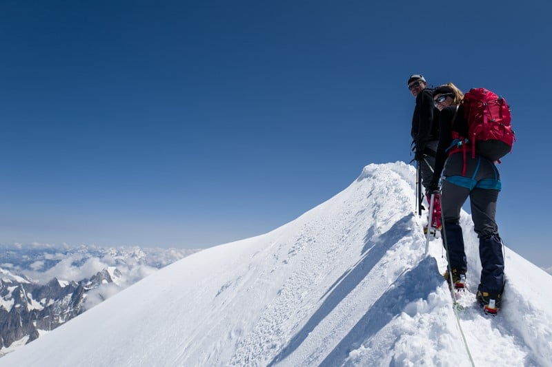 Ascension du mont blanc par la voir normale- Randonnée à ski et alpinisme pour grimper le mont blanc