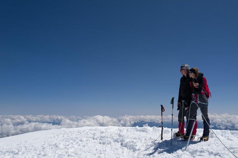 Sommet du mont blanc à 4810m -