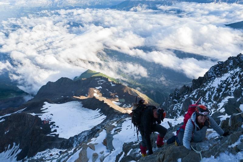 par la voie normale - Ascension du mont blanc - Randonnée et alpinisme pour grimper le mont blanc