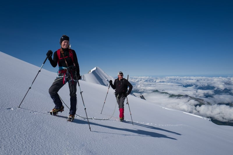voie normale et ascension du mont blanc - Randonnée à ski et alpinisme pour grimper le mont blanc
