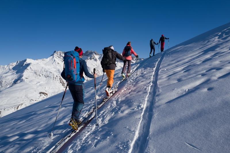 Roche Parstire Areches ski de rando
