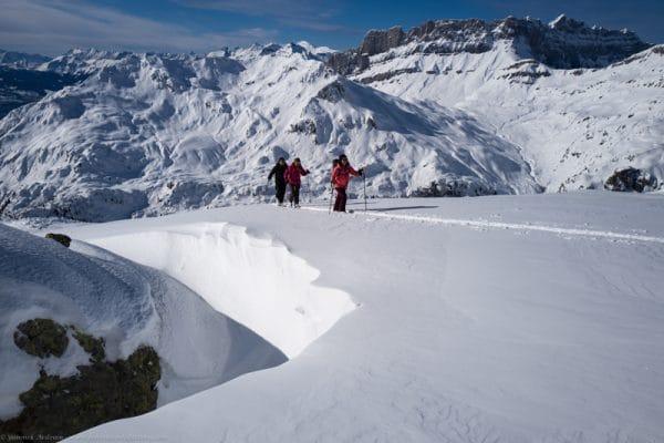A skis sur les balcons de Chamonix