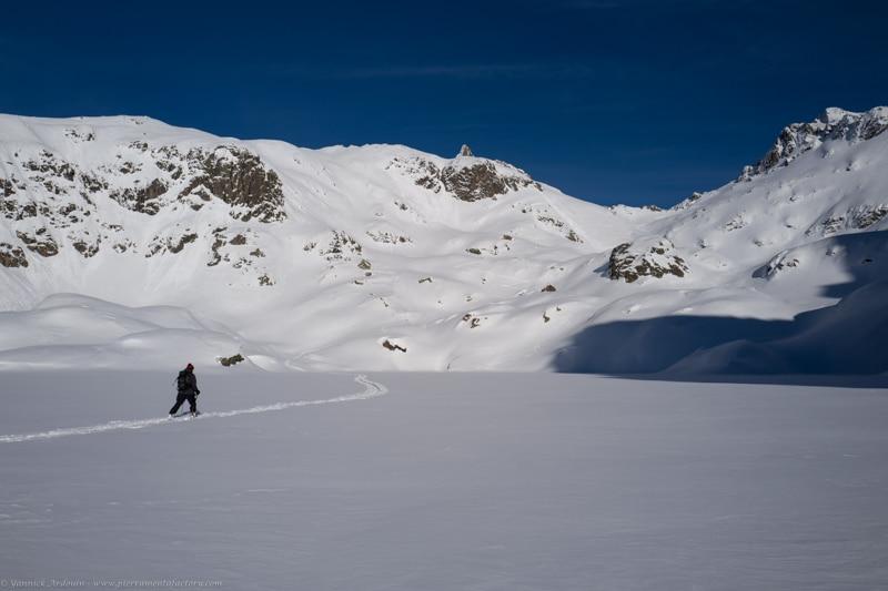 Ski randonnée lac Cornu