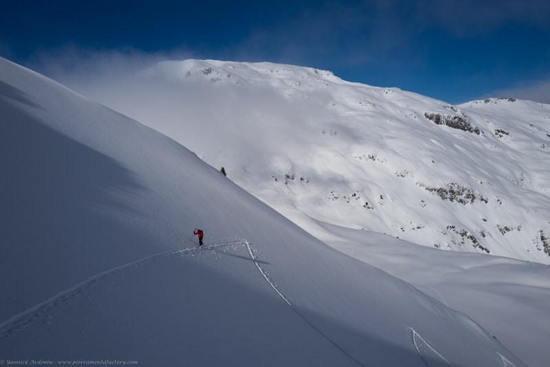 ski randonnée Riondet