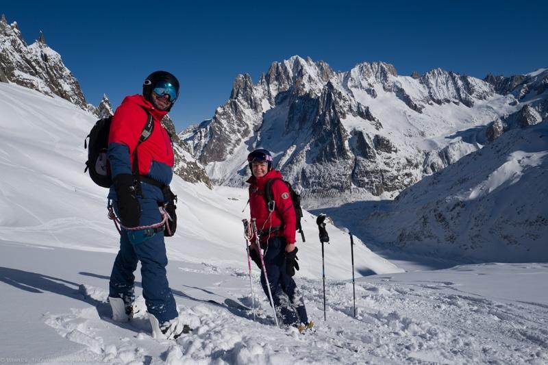 Vallée Blanche Chamonix ski