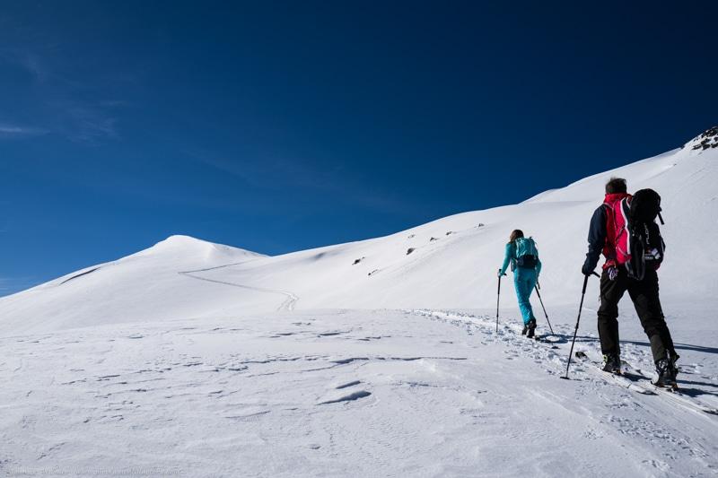 initiation ski randonnée Areches confiance guide client