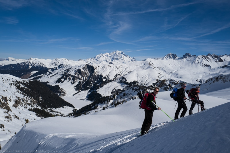 grand mont Areches ski