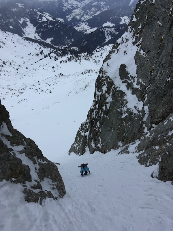 grand mont Areches couloir nord
