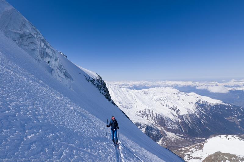 ski Mont Pourri glacier de Geay