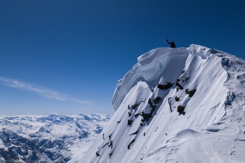 Un si beau Mont Pourri à ski…