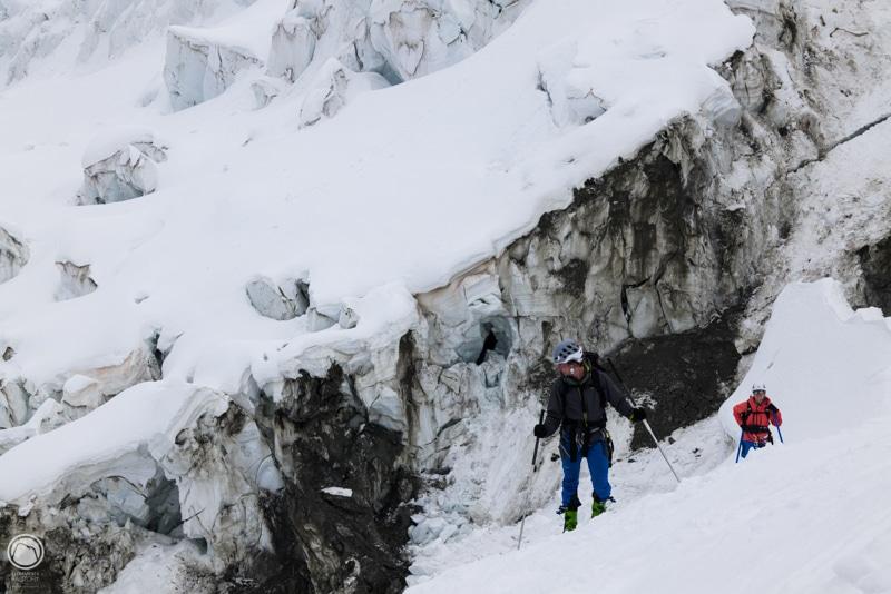 Mont Blanc a skis