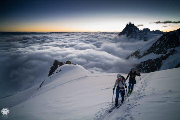 Mont Blanc à skis avec un Guide