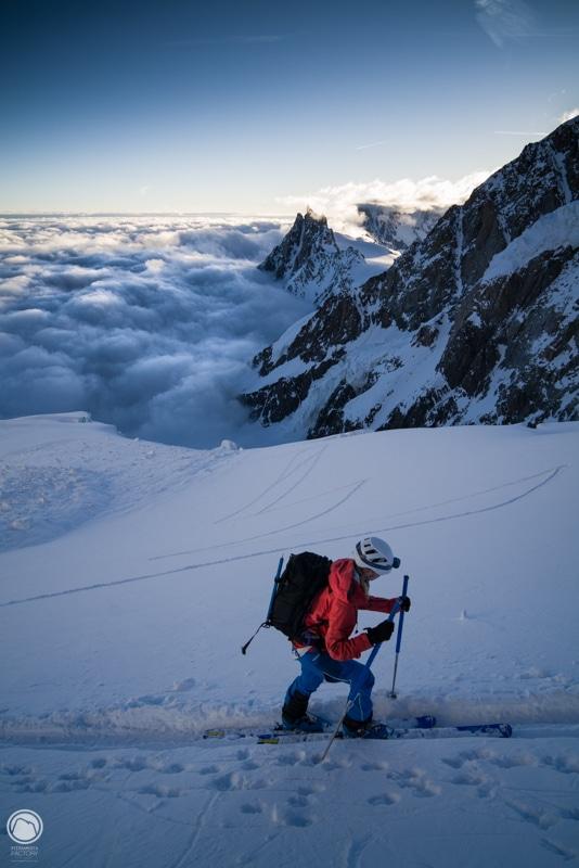 Mont Blanc ski Grand Mulets